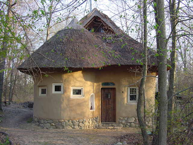 Natural Looking Buildings : Strawbale studio natural building frontpage